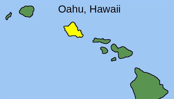 Oahu is the third largest, but most populous of the Hawaiian Islands.