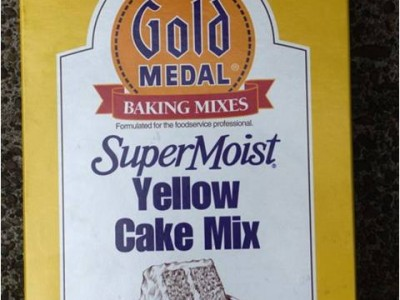 Gold Medal SuperMoist Yellow Cake Mix: Cake mix pictured here contained flour, spray-dried egg whites, and several low risk components. The implicated lot of cake mix contained two lots of spray-dried egg whites; a 50lb box of one lot was available for testing but was negative for Salmonella. Specific lots of flour used in the cake mix were not determined nor tested. Low levels of contamination could have gone undetected in either ingredient. The difficultly in recovering Salmonella from implicated ice cream and cake mix at several laboratories, and the relatively long incubation period for cases in this outbreak, also suggests low level contamination of the cake mix.